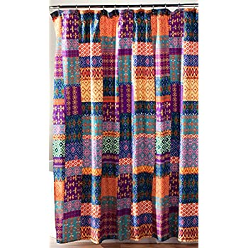 Amazon Com Lush Decor Misha Shower Curtain X Navy Home