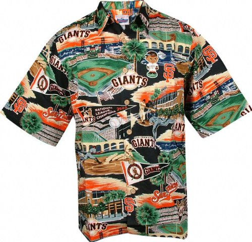 e6e8821dd9e6e Amazon.com  San Francisco Giants Hawaiian Shirt - Large  Clothing