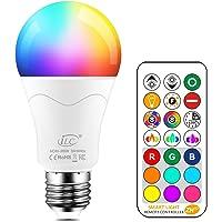 iLC Bombillas Colores RGBW 85W Equivalente LED Bombilla Regulable Cambio de Color…