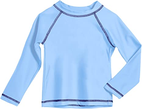 City Threads Baby Rash Guard Long Sleeves Sun Protection Beach Wear with UPF50 Made in USA