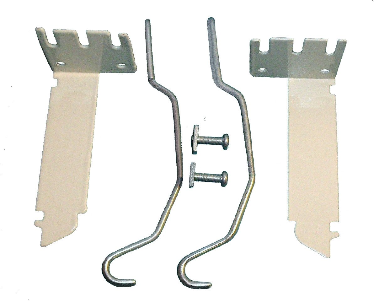 VALANCE CURTAIN ROD EXTENDER KIT ~ 1 Pair BRACKETS with 2 Wire CENTER SUPPORTS Shade Doctor of Maine S127-COPY