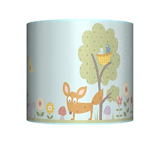 Woodland animals ceiling lampshade 10 drum baby boys blue woodland animals ceiling lampshade 10quot drum baby boys blue bedroom nursery lamp mozeypictures Images