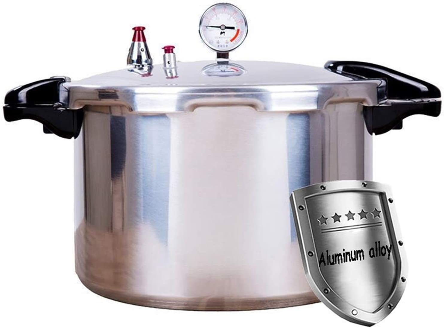 Pressure cooker with pressure gauge, pressure tank large-capacity gas dedicated fast aluminum stove, kitchen, restaurant, canteen, shopping center, school cooking utensils 15L, 22L