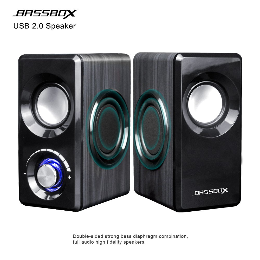 BASSBOX USB 2.0 Channel Computer Speakers with Stereo Sound for Mac,PC,Laptop,Smart Phone and More by BASSBOX (Image #3)