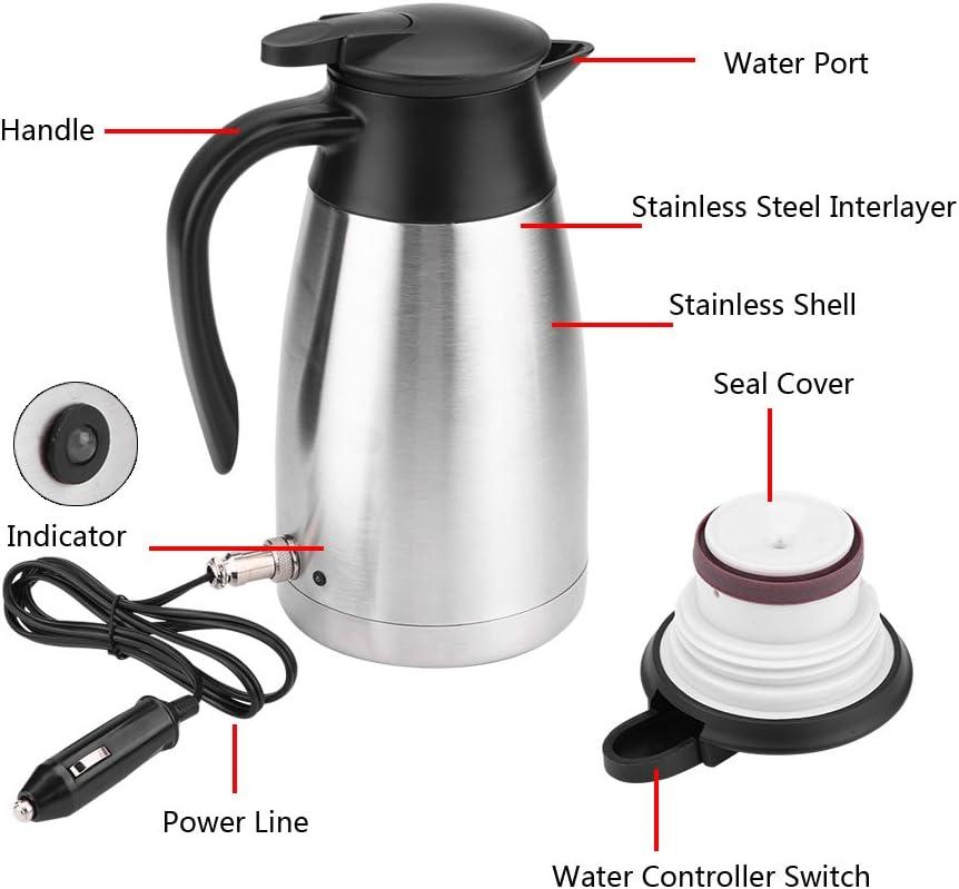 Auto Lkw 1000ml 12v 24v Wasserkocher Edelstahl Elektrische Heizung Wasserflasche Schnell Kochendes Wasser In Winter Auto Wasserkocher Becher Reise Heizung Cup For Kaffee Auto