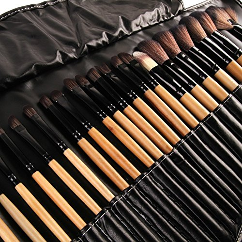 32pcs Women's Lady Professional Makeup Brushes Set Pinceaux Maquillage Synthetic Toiletry Kit Makeup Brushes (Maquillage Et Costume Halloween)