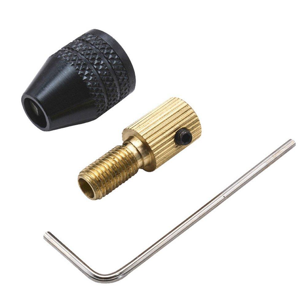ounona Keyless-Schwarz Aluminium Legierung Mini 3-jaw-Schnellspannbohrfutter Bohren Adapter Konverter selbst Tight kleiner Clip, SDS-Adapter Bohrer Bits Konverter Tool Power Hand Bohrer