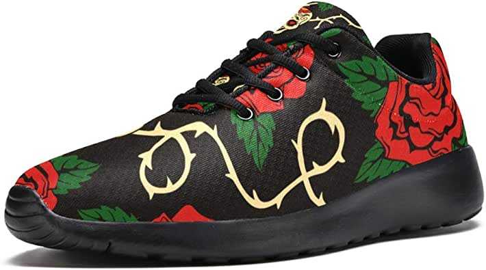 LoRVIES - Zapatillas de deporte para hombre con diseño de