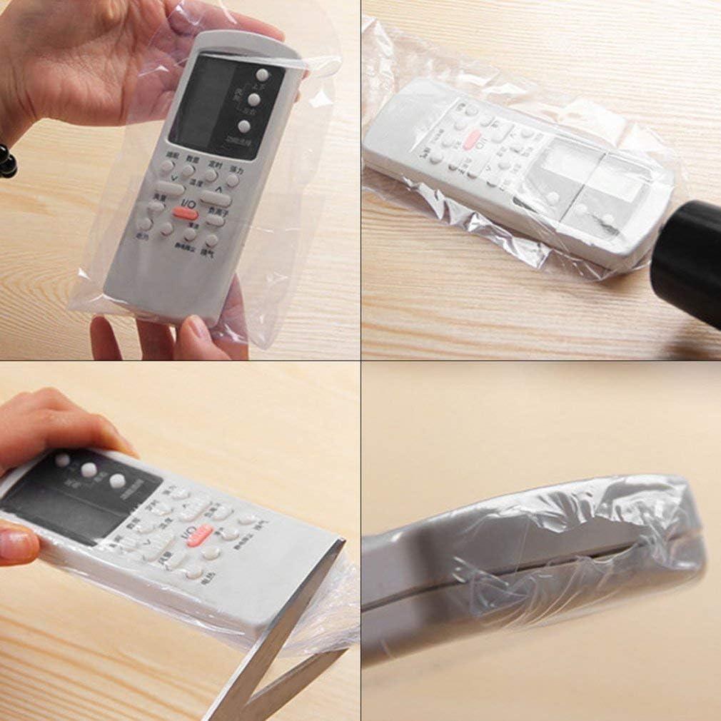 Leoboone 5 Stk PPC Schrumpffolie TV-Klimaanlage Video-Fernbedienung Bildschirm Schutzh/ülle Staubdicht Wasserdicht