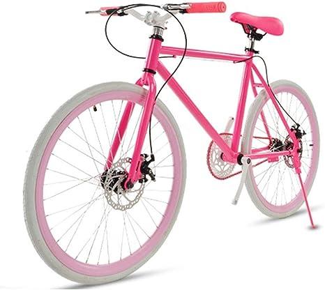 Bicicleta de carretera para hombres y mujeres, bicicleta simple, bicicleta para mujeres adultas, coche deportivo con freno de doble disco para hombres, 26/24 pulgadas dos, carreras neumáticas (ros: Amazon.es: Deportes y aire