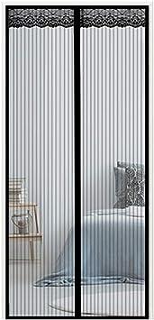 Mosquitera Para Puerta Corredera/d Entrada Enrollable,Fotograma Completo Cortina Malla Casa Anti-Mosquitos VentilacióN,ProteccióN Contra Insectos Moscas Barco Pesca,Black,95x195cm(37x77inch): Amazon.es: Bricolaje y herramientas