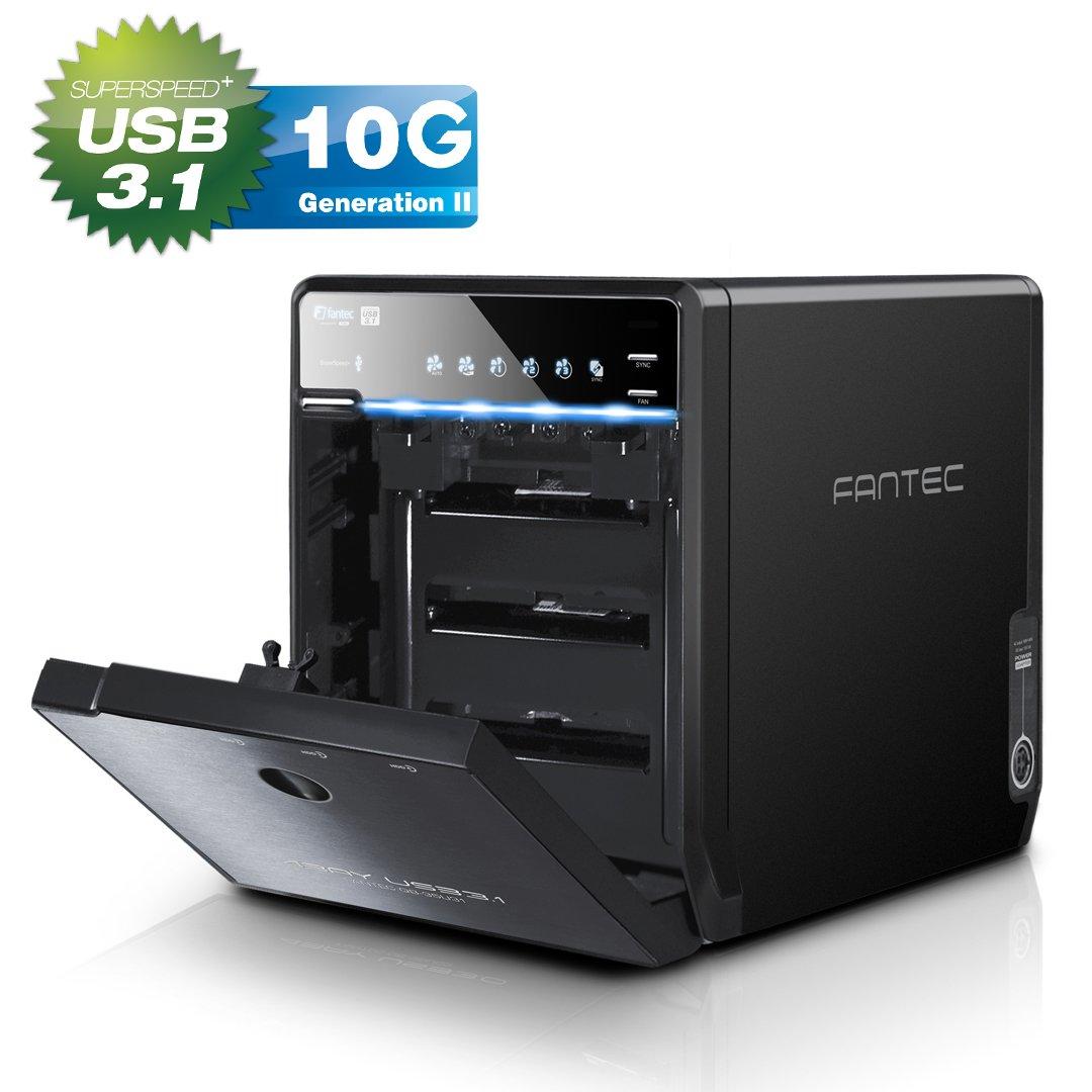 FANTEC QB-35U31 Carcasa para 4 discos duros de 3.5″ HDD con USB 3.1