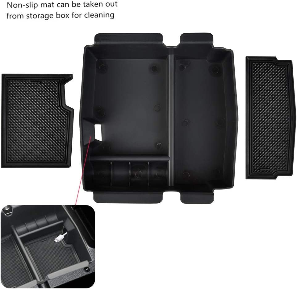 CARFUN Accessories Center Console Organizer Tray for 2018 2019 Jeep Wrangler JL//JLU and Jeep Gladiator JT Truck 2020