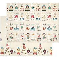 Blanketswarm - Alfombra para niños (Plegable, Doble Cara, Impermeable, XPE, Espuma Antideslizante, para Uso en Interiores o Exteriores, 79 x 59 x 0.4 Pulgadas)