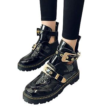 Chaussures Bottines Femme, Xinantime Bottes en Cuir verni