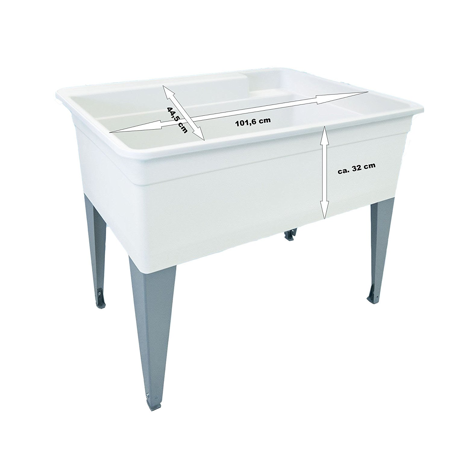 "Mustee    28CF Big Tub, 24"" x 40"", White"