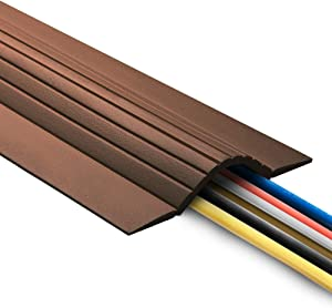 UT Wire 10FT Cable Blanket High Capacity Low Profile Cord Cover and Wire Protector - Brown