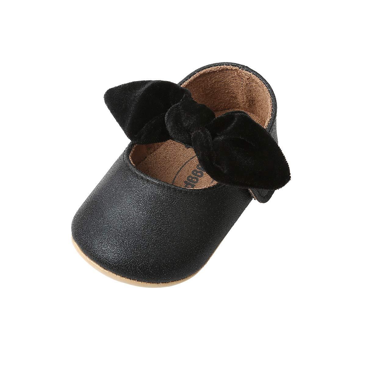 b90cbe8554252 DOTBUY Chaussures Enfants Filles Bébés, Nouveau Né Bowknot Toddler  Antidérapant Premières Pas Chaussures Marcheurs