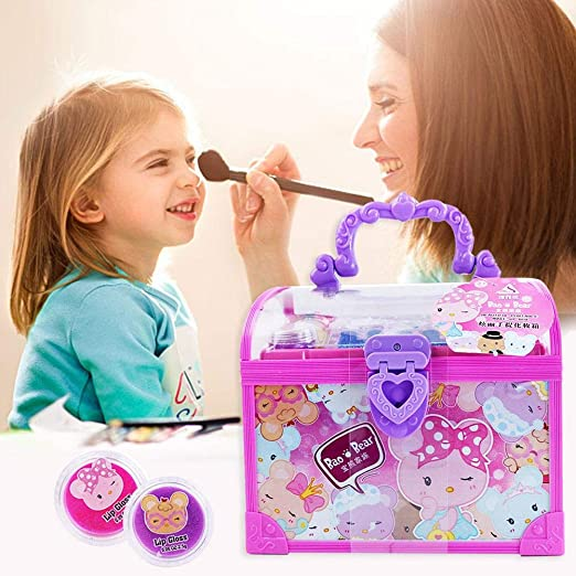 Juguetes Niñas 4 Años Maquillaje Para Niñas Maquillaje Niñas Maletin Maquillaje Infantil Pintauñas Niñas Kit De Maquillaje Kids Makeup Kit Girls Makeup Toys Set Pretend Play Toys Set -for Girls: Amazon.es: Hogar