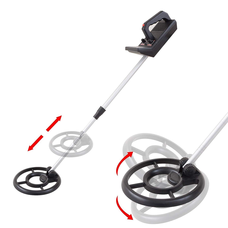 Voilamart Detector de Metales Tipo de Tesoros, con rastreador de Monedas de Oro subterráneo, con Tallo Sensible Ajustable de 19 cm, Resistente al Agua, ...