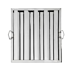 """New Star Foodservice 54378 S/S Hood Filter 20""""Wx20""""H"""