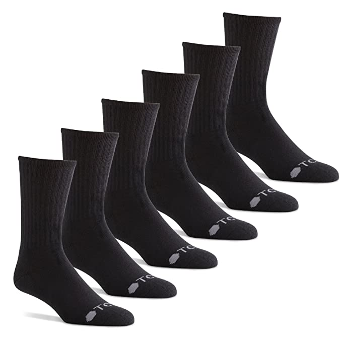 TCS Men's Premium Comfort Casual Crew Socks