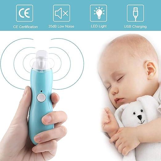 Nagelpflege Set mit LED- Licht f/ür Babys Erwachsene USB Wiederaufladbare Nagelfeile mit 6 Ersatz Schleifk/öpfen HebyTinco Elektrischer Nageltrimmer f/ür Babys Blau Kleinkind