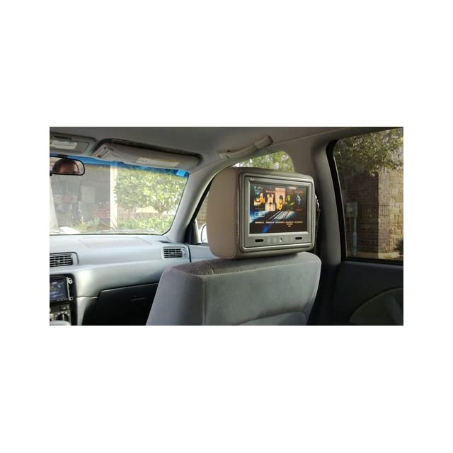 Tview T921pl gray Car Headrests with 9 Inch Tft lCD Monitors