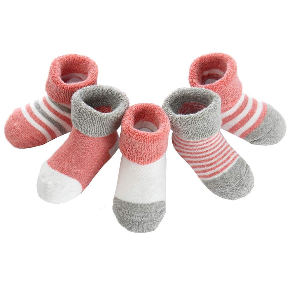 Z-Chen 5 Pairs Baby Boys Girls Cotton Socks Thick Warm EU0124-132