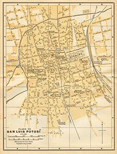 Amazon.com: Plano de SAN LUIS POTOSI, Mexico. Mapa de la ... on map of rumbek, map of wu, map of siu, map of chicago,