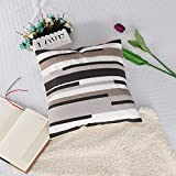 Paws Up 18x18 Embroidered Cushion Cover 100% Cotton Comfortable Square Pillowcase Chair/Sofa/Bed Invisible Zipper