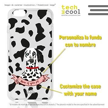 Funnytech® Funda Silicona para Oneplus 5T [Gel Silicona Flexible, Diseño Exclusivo] Perro Dalmata Fondo Moteado Personalizable