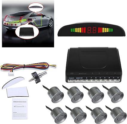LED Wireless 4 Parking Sensor Radar Monitor Detector System Reversing big