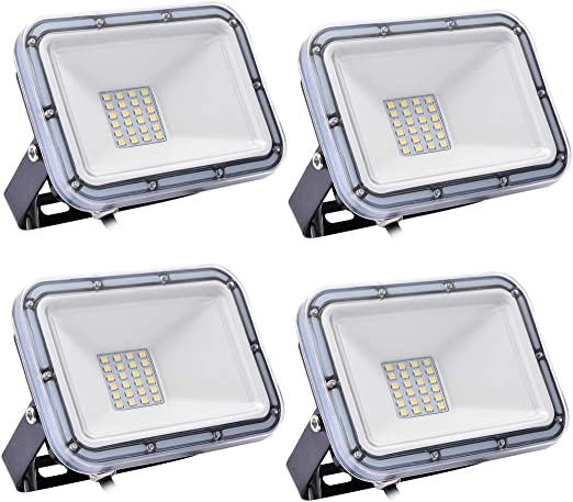 4 Pack 20W Proyector LED exterior IP67 Impermeable Foco exterior ...