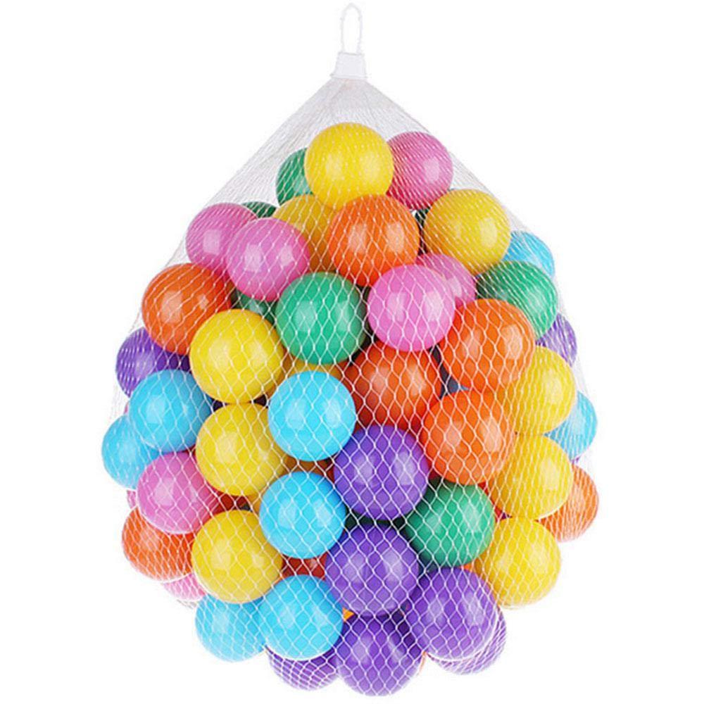 FOONEE ボールピットボール 100個 カラフルなピットボール 収納メッシュバッグ付き クラッシュプルーフプラスチックボール プレイテント キッズプール プレイペン ジャンプキャッスル バウンスハウス 6225060421877  マルチカラー B07Q1W4DBM