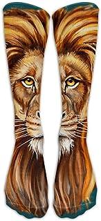 Jxrodekz Long Dress Socks Casual Head Of Lion Football Comfortable Breathable Over-the-Calf Tube