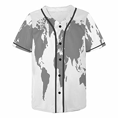 World Map Button Down Shirt.Amazon Com Interestprint Men S Button Down Baseball Jersey Flowers