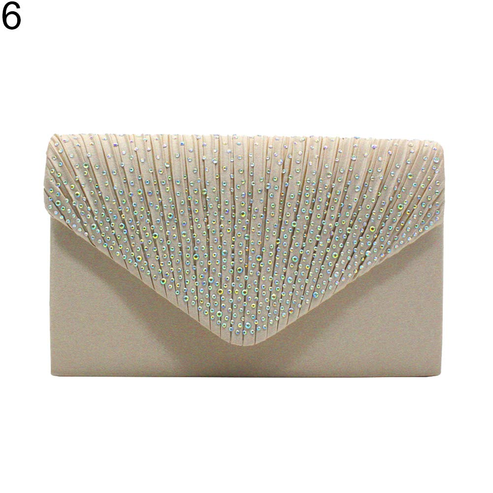 SEGRJ Trendige Rhinestone Inlay Wedding Party Handtasche Elegant Women Envelope Clutch Purse