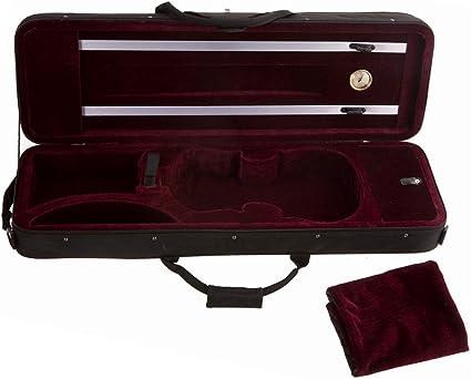 D/'Luca Oblong Full Size Violin Case With Hygrometer