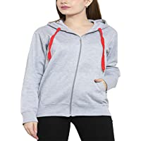 Josh Daniel Plus Size Women's Cotton Pullover Hoodie Sweatshirt with Zip