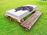 Ambesonne Industrial Outdoor Tablecloth, Mechanic Wheel Machine of Human Magnificent Brain Futuristic Science Image, Decorative Washable Picnic Table Cloth, 58 X 120 inches, Charcoal Grey