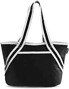 Hydracentials Insulated Lunch Tote - Large Lunch Bag for Women, Insulated Lunch Tote Bag for Work, Picnics and on the Go - 16 x 10 x 7 - Black
