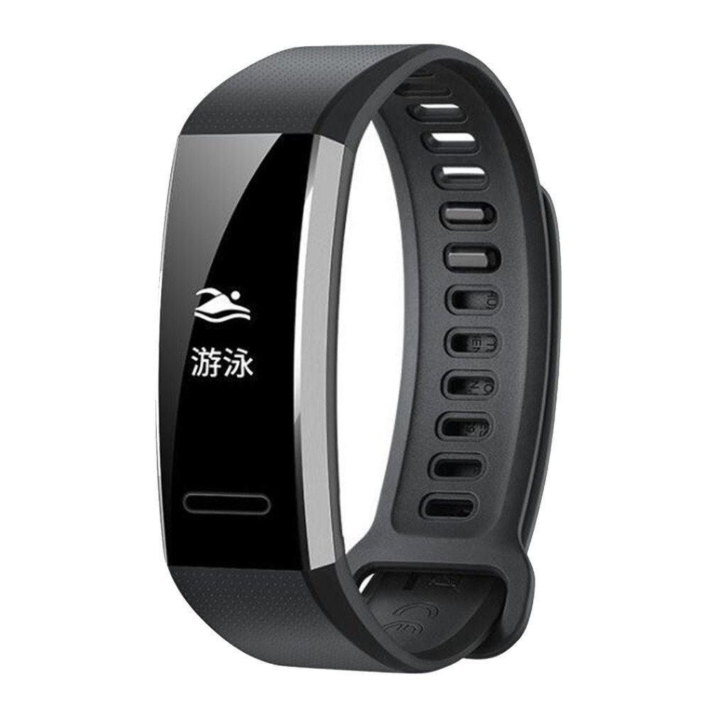 ZTY66 Soft Silicone Replacement Band Wrist Strap for Huawei Band 2/Band 2 pro Smart Watch (Black)