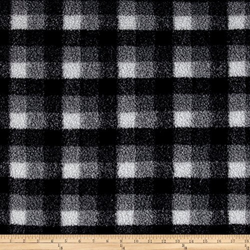 Shannon Fabrics Shannon Berber Check Fleece Fabric by the Yard, Charcoal