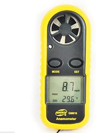 Digital LCD Air Flow Wind Speed Anemometer Temperature Meter Tester Thermometer.