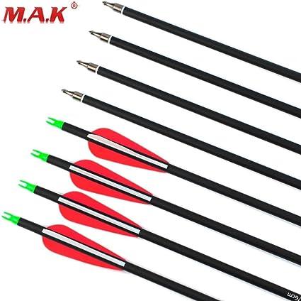 "2/""Archery Blazer Arrow Fletching Vanes Feathers Carbon Arrows Mix Set Six Color"