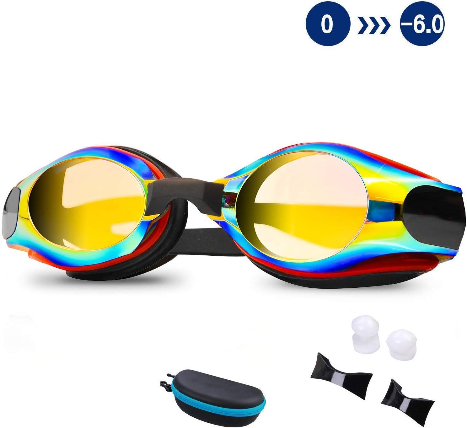 DEFUNX Swim Goggles,Shortsighted Swimming Goggles Myopic with Prescription Lenses Anti Fog for Women Kids Men Swimming Goggles /…