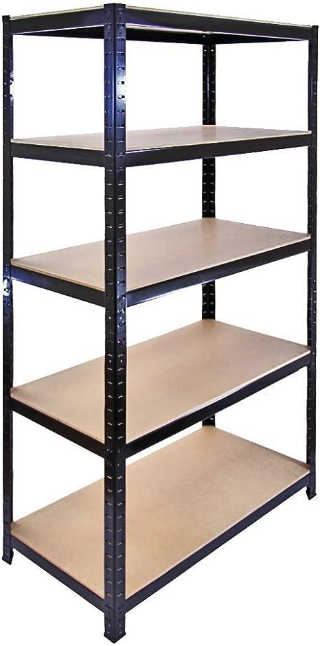 The Shopfitting Shop Resistente de 5 Niveles sin Tornillos estantería de Garaje Utilidad de Efecto Invernadero casa estantería 1800 x 900 x 400