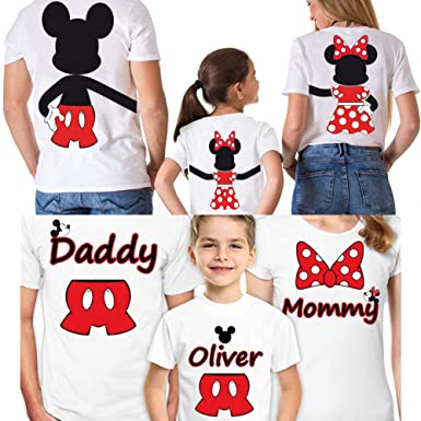 fe8c0eab28 Image Unavailable. Image not available for. Color: Disney Family Shirts Set  of 3 Mickey Minnie Mouse Vacation Matching ...