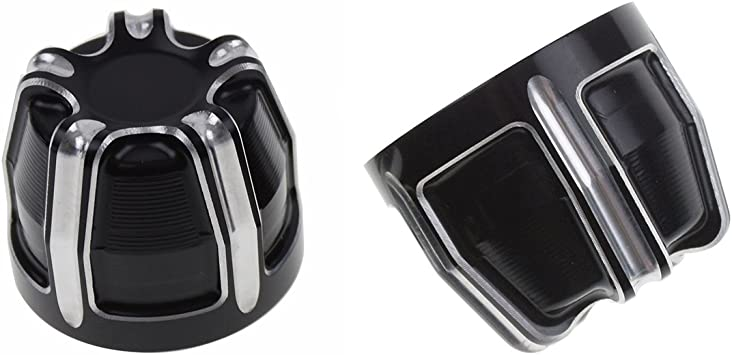 YHMTIVTU Front Axle Nut Cover Axle Caps Fit for Harley Touring Sportster Dyna Softail Fat Boy VRSC Road King